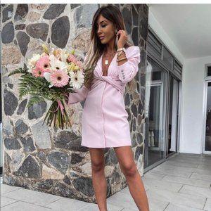 Zara NWOT Blazer Dress Light Pink